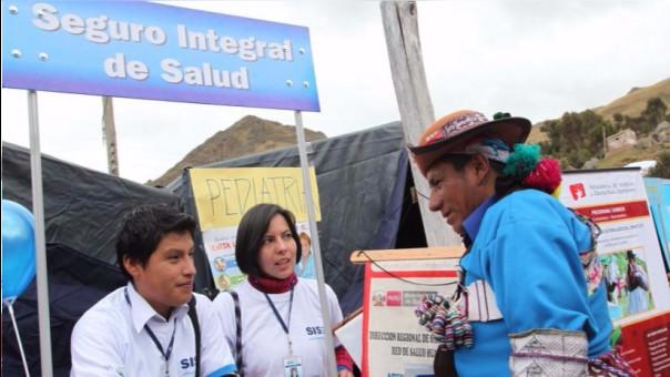 El SIS está orientado a ayudar a las poblaciones más vulnerables.