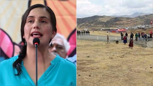 Verónika Mendoza manifestó su indignación por lo ocurrido en Las Bambas este viernes.