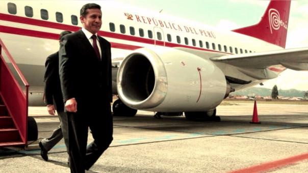 Ollanta Humala en uno de sus viajes como presidente entre 2011 y 2016. Durante su estadía en España se aprobó investigar tres obras de su gobierno.