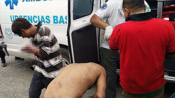 Los presuntos ladrones fueron auxiliados por autoridades locales.