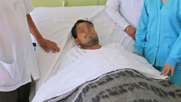 Víctima recibe atención en nosocomio