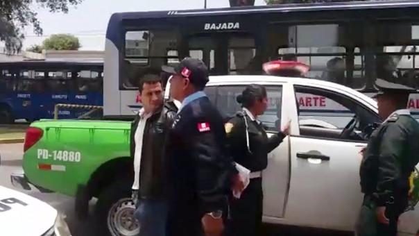 La Policía Nacional y el Serenazgo lograron la rápida intervención del sujeto.