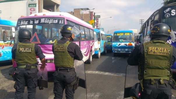 Trujillo: transportistas deciden paro de 48 horas