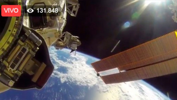 Así se aprecia la Tierra desde el espacio.