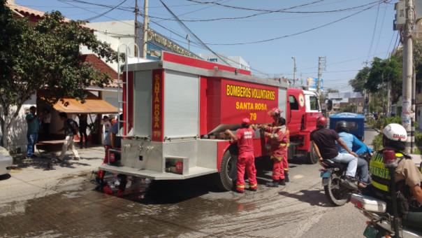 Amago de incendio en Piura.