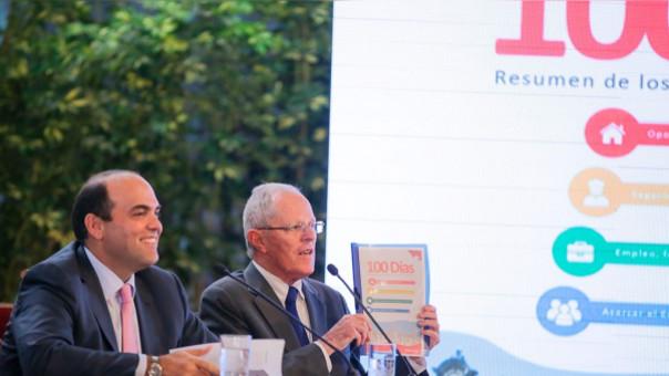 PPK y Zavala presentaron los avances del Gobierno.