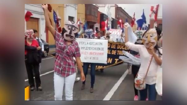 Trujillo: docentes de UNT inician huelga