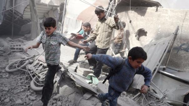 Los niños siguen pagando las consecuencias de la guerra en Siria.