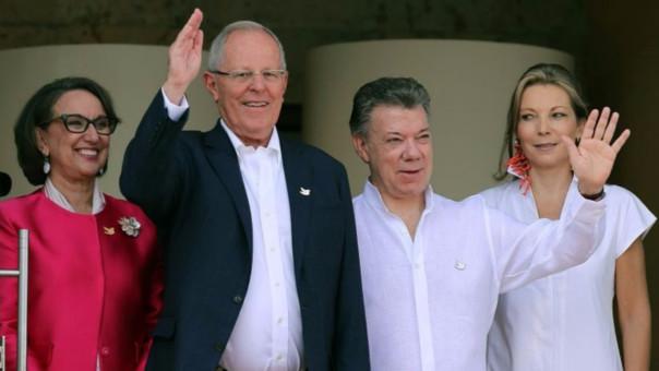 Kuczynski continúa en Cartagena, donde el presidente Juan Manuel Santos es su anfitrión.