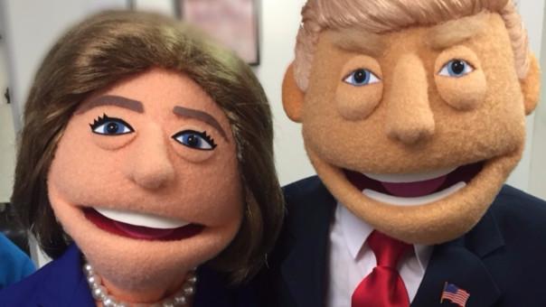 La campaña también ha tenido una alta dosis de humor. Por ejemplo, en una obra de teatro de Nueva York se usan títeres de ambos candidatos.