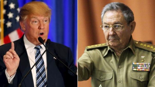 Resultado de imagen para Donald Trump y Raúl Castro
