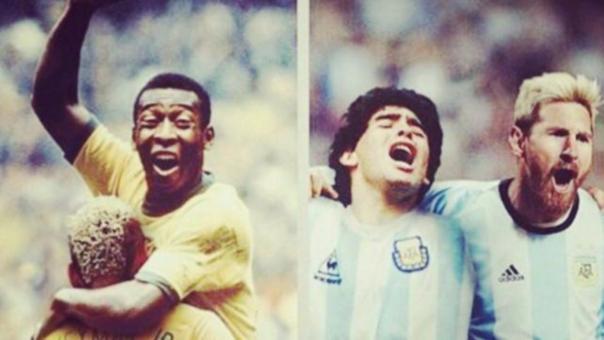 ¿Cómo sería un Brasil vs. Argentina con Messi, Neymar, Pelé y Maradona?