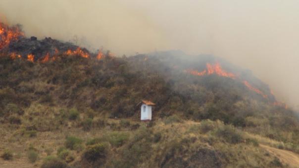 Incendio forestal afecta a regiones del norte del país.