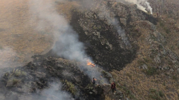 Incendio en Kañaris