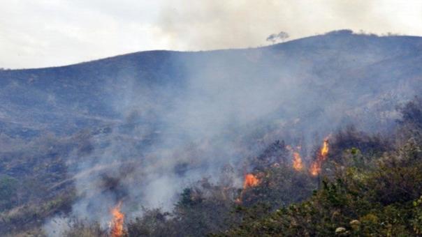 Incendios forestales mantienes alarmandos a los habitantes de la provincia de Contumazá