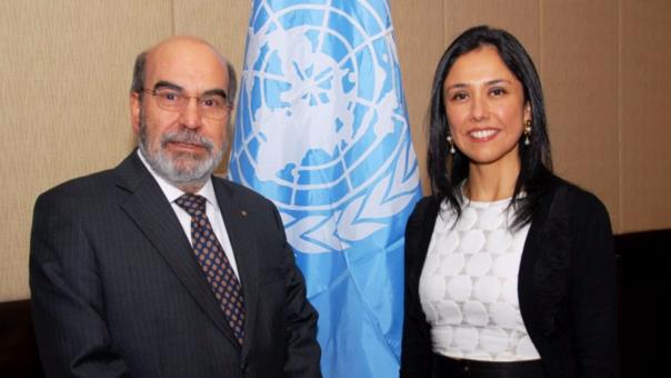 Herdia con Graziano da Silva, director de la FAO.