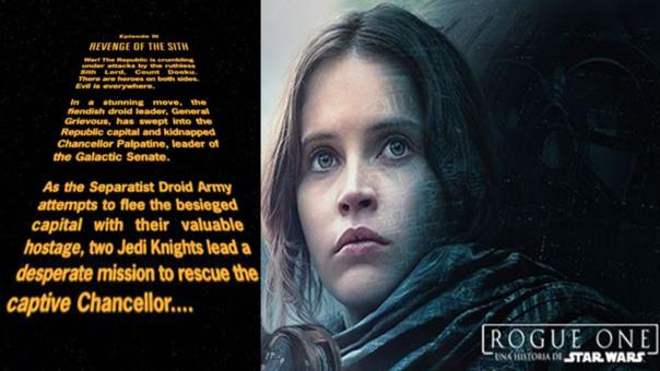 Rogue One No Tendría El Tradicional Intro Que Caracteriza A