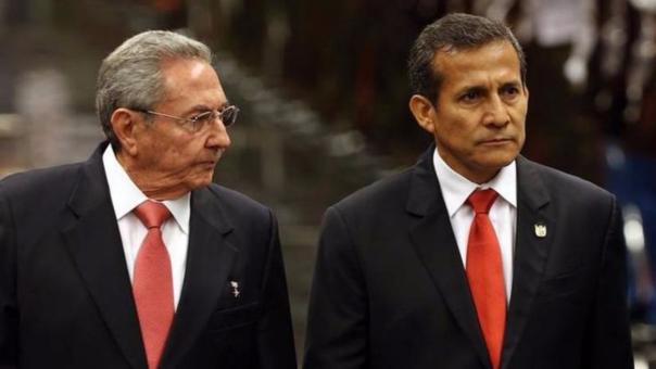 Ollanta Humala visitó Cuba y se reunió con Raúl Castro, hermano y sucesor de Fidel, en febrero de este año.