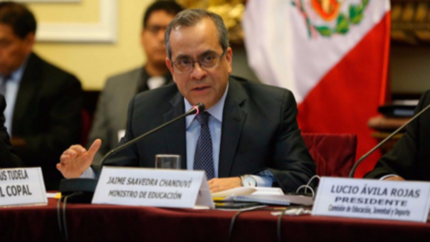 Jaime Saavedra fue interpelado por Fuerza Popular tras la denuncia de desvío de fondos del Ministerio de Educación, a través de la compra de libros.