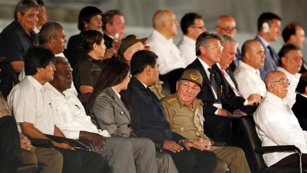 Diferentes mandatarios de América y el mundo son parte de los funerales de Fidel Castro.
