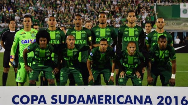 El equipo titular del Chapecoense.