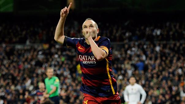 Andrés Iniesta aún no anota en sus 6 partidos disputados por la liga española de la presente temporada 2016/17. La 2015/16 hizo un gol.