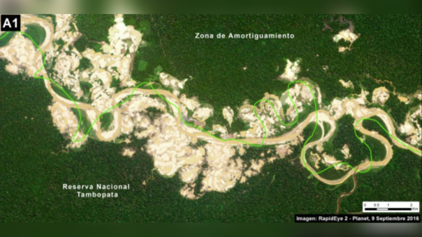 Deforestación en la Reserva Nacional de Tambopata.