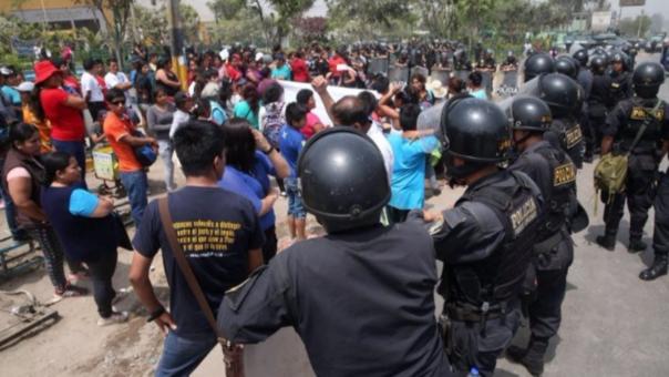 Desmanes en Huaycán