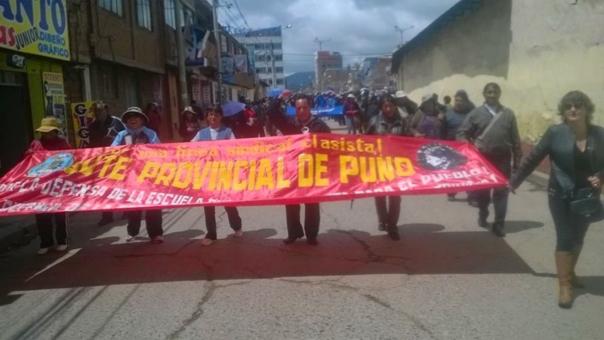 Docentes del Sutep se mantiene en permanente lucha por sus derechos.