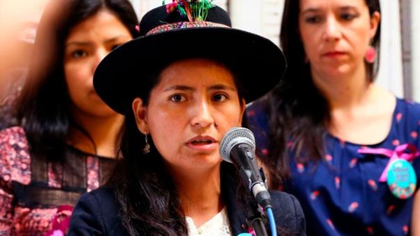 Tania Pariona, como el resto de su bancada, rechazó la moción de censura presentada por el fujimorismo contra el ministro de Eduación Jaime Saavedra.