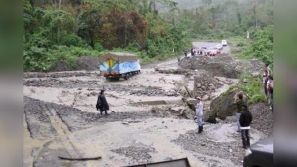 LLuvias afectaron principales vías en Yurimaguas.