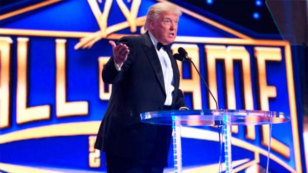 Donald Trump pertenece al salón de la fama de la WWE.