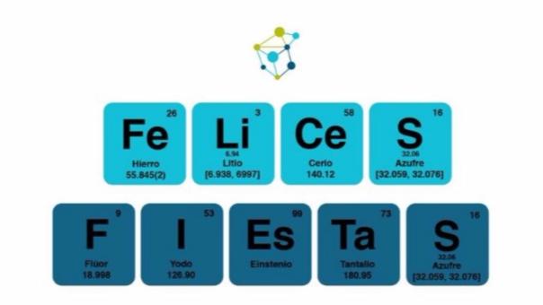 Concytec envi un mensaje navideo con elementos de la tabla perodica urtaz Images