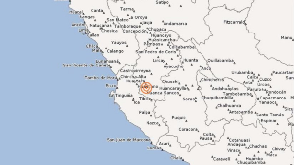 Un sismo se originó en Huancavelica este miércoles 21