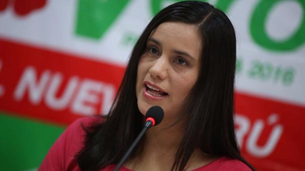 Verónika Mendoza, lideresa del movimiento Nuevo Perú.