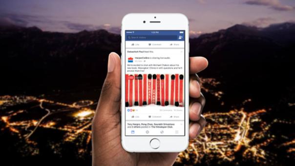 Facebook lanza Transmisiones de Audio en vivo