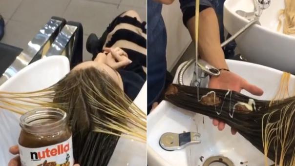 Nutella en el cabello