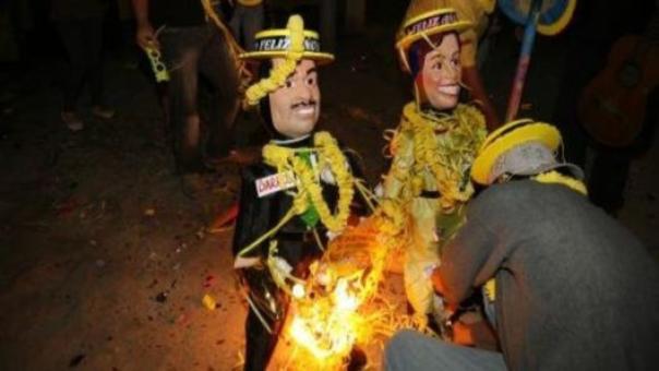 La multa por quemar muñecos en Cajamarca es de S/.1,975.00