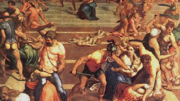 La matanza en el Día de los Inocentes, según el pintor manierista Daniele da Volterra (siglo XVI)