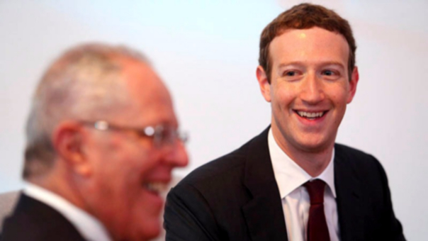 Mark Zuckerberg durante su encuentro con PPK.
