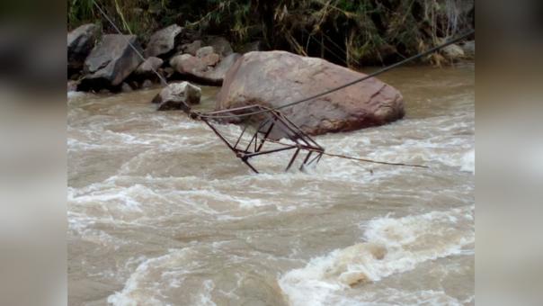 Huaro que cayó al río LLaucano