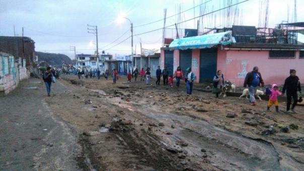 Más de cuatrocientos familias fueron afectados  por las fuertes precipitaciones pluviales