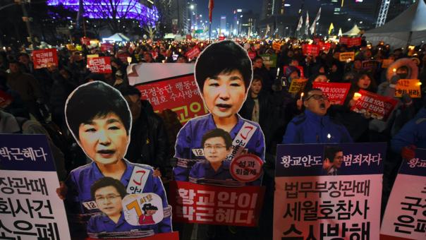 El escándalo que involucró a la ahora destituida presidenta Park Geun-Hye generó multitudinarias protestas en Corea del Sur.