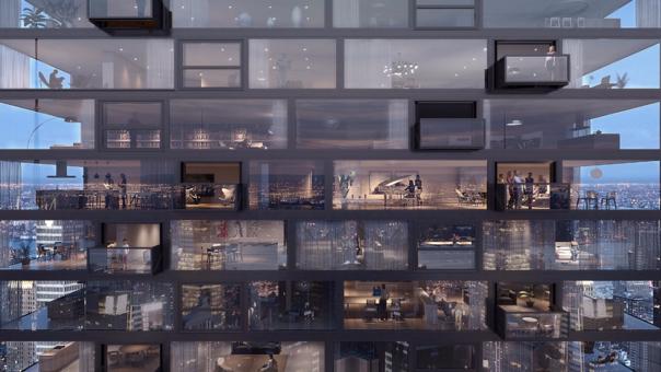 Así se ven los niveles del edificio.