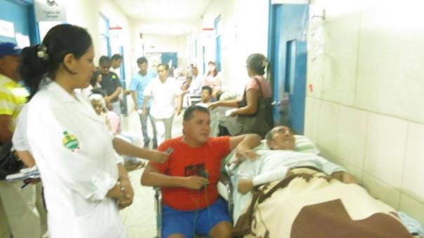 Pacientes en los pasadizos