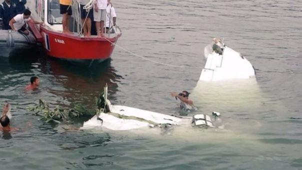 La avioneta cayó en el mar de Río de Janeiro. Tuvo problemas para aterrizar.
