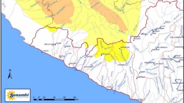 Mapa Caravelí