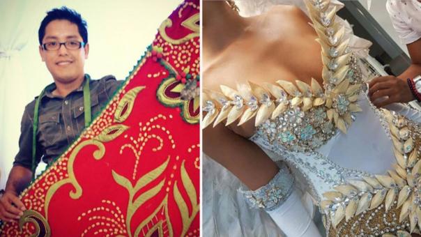 La creación de Beto Pinedo competirá en Filipinas contra otros 89 atuendos en el Miss Universo.