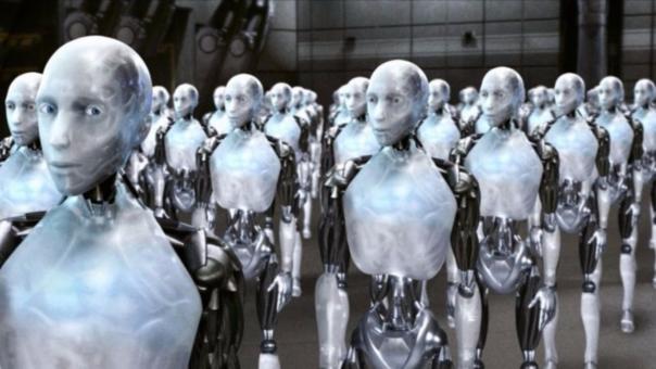 La película 'I, Robot', basada en una historia de Isaac Asimov, imagina una rebelión de robots.