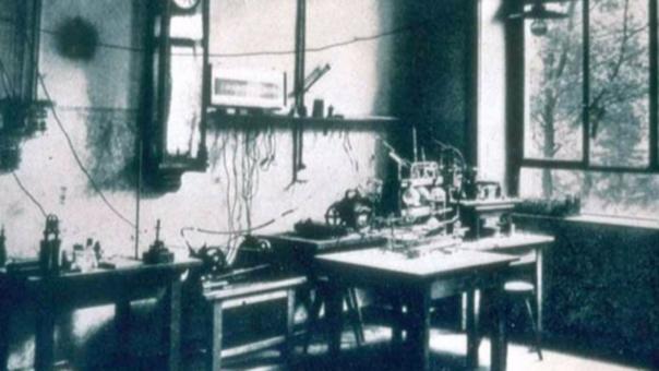 El laboratorio de Röntgen en la universidad de Würzburg, donde descubrió los Rayos-X